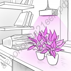 """Лампа для растений 50Вт с цоколем Е14/Е27/Е40/GU10, с активным охлаждением светодиода """"Альфард"""" (аналог китайских ламп мощностью 80-100 Вт)"""