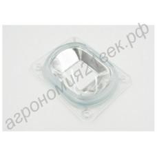 Линза пластиковая для бездрайверных светодиодов (с отражателем и прокладкой)