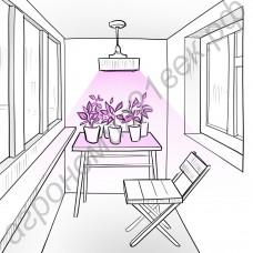 """Агролампа для домашнего использования """"Фекда"""" 60Вт (цоколь E14/E27/E40/GU10)"""
